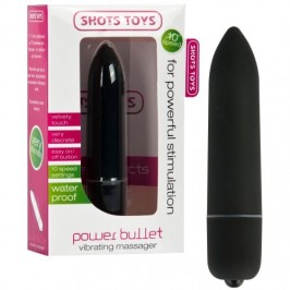 VIBRATING POWER BULLET BLACK