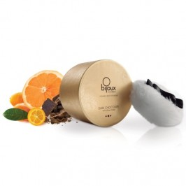 POLVO CORPORAL BESABLE KISSABLE BODY POWDER BIJOUX INDISCRETS CHOCOLATE NEGRO Y CÍTRICOS 45GR