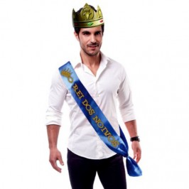 """PARTY BAND AND CROWN """"THE GROOM'S KING"""" IN PORTUGUESE"""