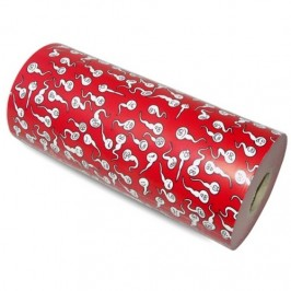 WRAPPING PAPER DECORATED WITH SPERMATOZOA 62 CM