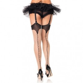 THIGH HIGHS WITH STYLISH BACK SEAM
