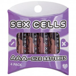 4 PILAS AAA ALCALINAS SEX CELLS