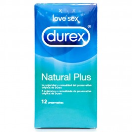 NATURAL PLUS DUREX CONDOMS 12 UNITS