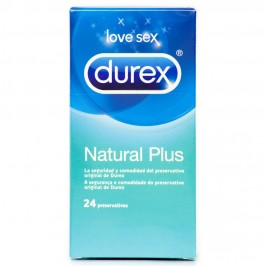 NATURAL PLUS DUREX CONDOMS 24 UNITS