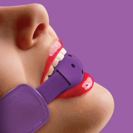 BRACE BALL GAG PURPLE