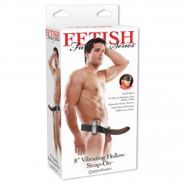8'' VIBRATING HOLLOW STRAP-ON FETISH FANTASY SERIES