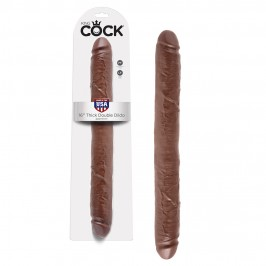 KING COCK 16'' REALISTIC THICK DOUBLE DILDO MULATTO