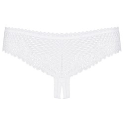 OBSESSIVE ALABASTRA CROTCHLESS THONG WHITE