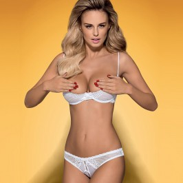 OBSESSIVE ALABASTRA CROTCHLESS SET WHITE