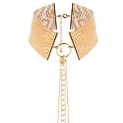 THE MAGNIFIQUE COLLECTION METALLIC COLLAR BIJOUX INDISCRETS GOLD