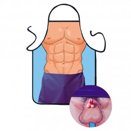 APRON WITH MUSCLES AND MINI PENIS