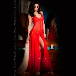 BABYDOLL AND THONG CR-3470 RED