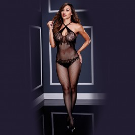 CROTCHLESS BODYSTOCKING 3131 BACI BLACK