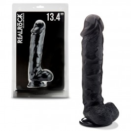 """REALROCK 13,4"""" REALISTIC DILDO WITH TESTICLES BLACK"""