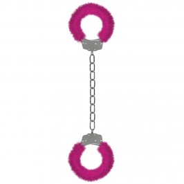 FURRY ANKLE CUFFS PINK