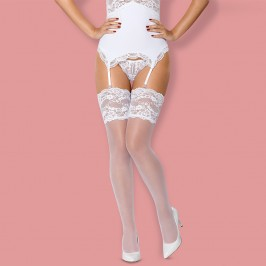 OBSESSIVE 810-STO THIGH HIGHS WHITE
