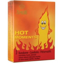 HOT MOMENTS CONDOMS 3 UNITS