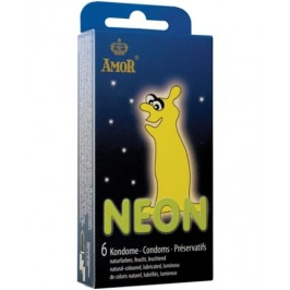 NEON GLOWING CONDOMS 6 UNITS