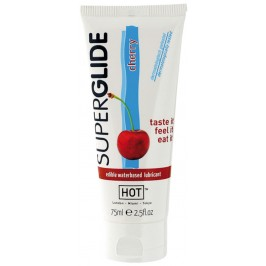 HOT™ SUPERGLIDE EDIBLE LUBRICANT CHERRY 75ML
