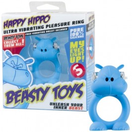 VIBRATING RING WITH LIGHT BEASTY TOYS HAPPY HIPPO