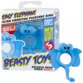 VIBRATING RING WITH LIGHT BEASTY TOYS EASY ELEPHANT