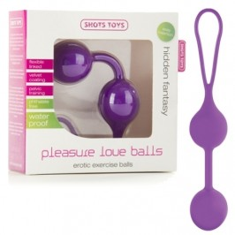 BOLAS PLEASURE LOVE BALLS ROXO