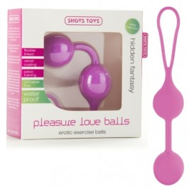 BOLAS PLEASURE LOVE BALLS ROSA
