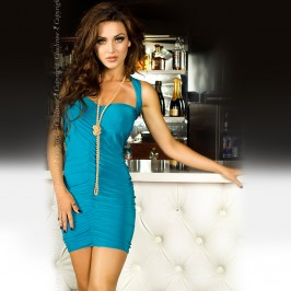 DRESS CR-3164 TURQUOISE