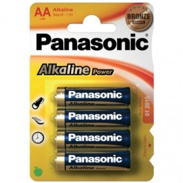 4 AA ALKALINE PANASONIC BATTERIES