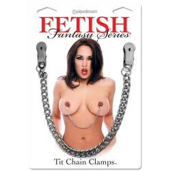 PINÇAS PARA OS MAMILOS TIT CHAIN CLAMPS FETISH FANTASY SERIES