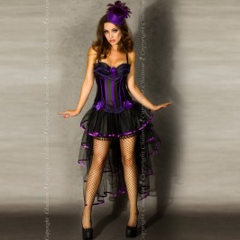 SKIRT CR-3442 BLACK AND PURPLE