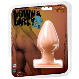 "WILDFIRE DOWN & DIRTY 4.5"" ANAL PLUG WHITE"