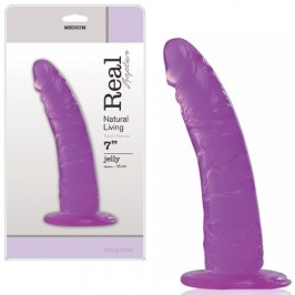 REAL RAPTURE EARTH FLAVOUR DILDO 7'' PURPLE